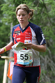 Dana Brozkova, Relay at WOC2010.jpg