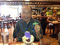 Daniel Inouye at Max's of Manila in Waipahu.JPG
