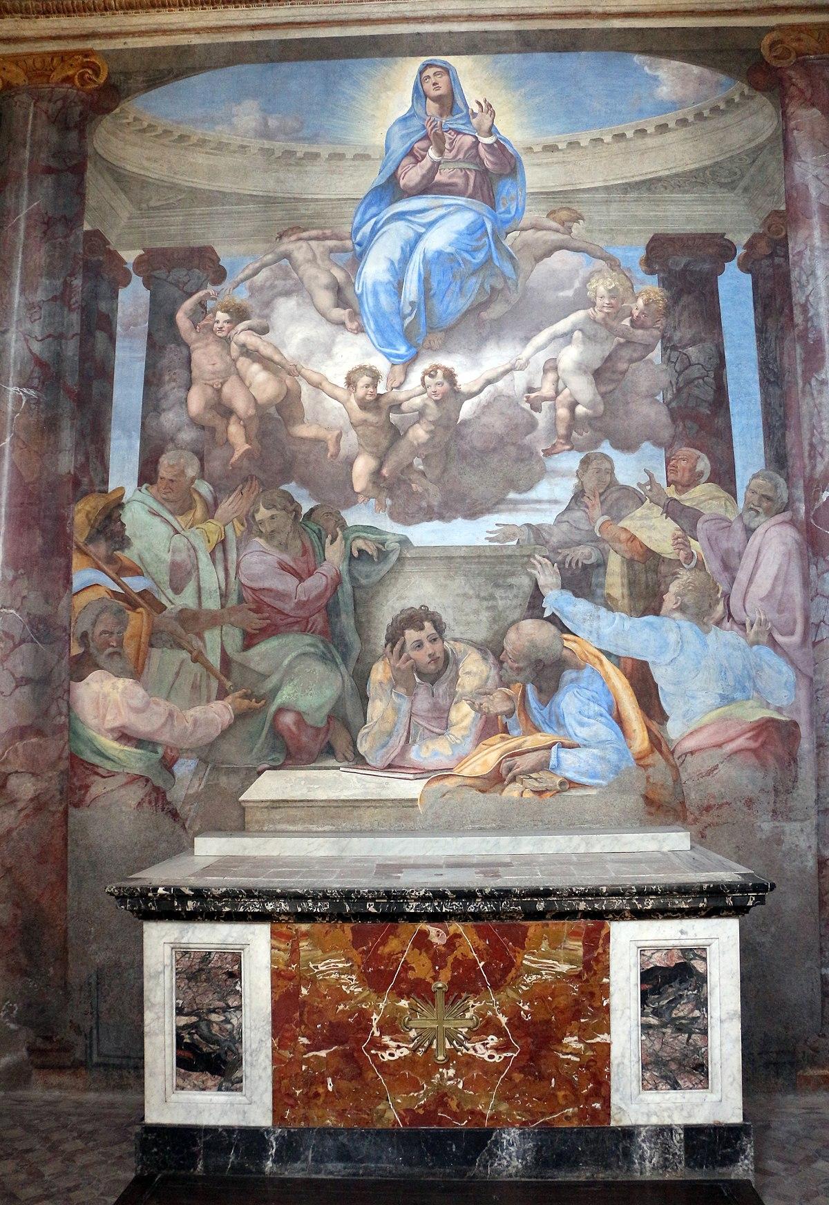 File:Daniele da volterra, assunzione della vergine, 1548 ...