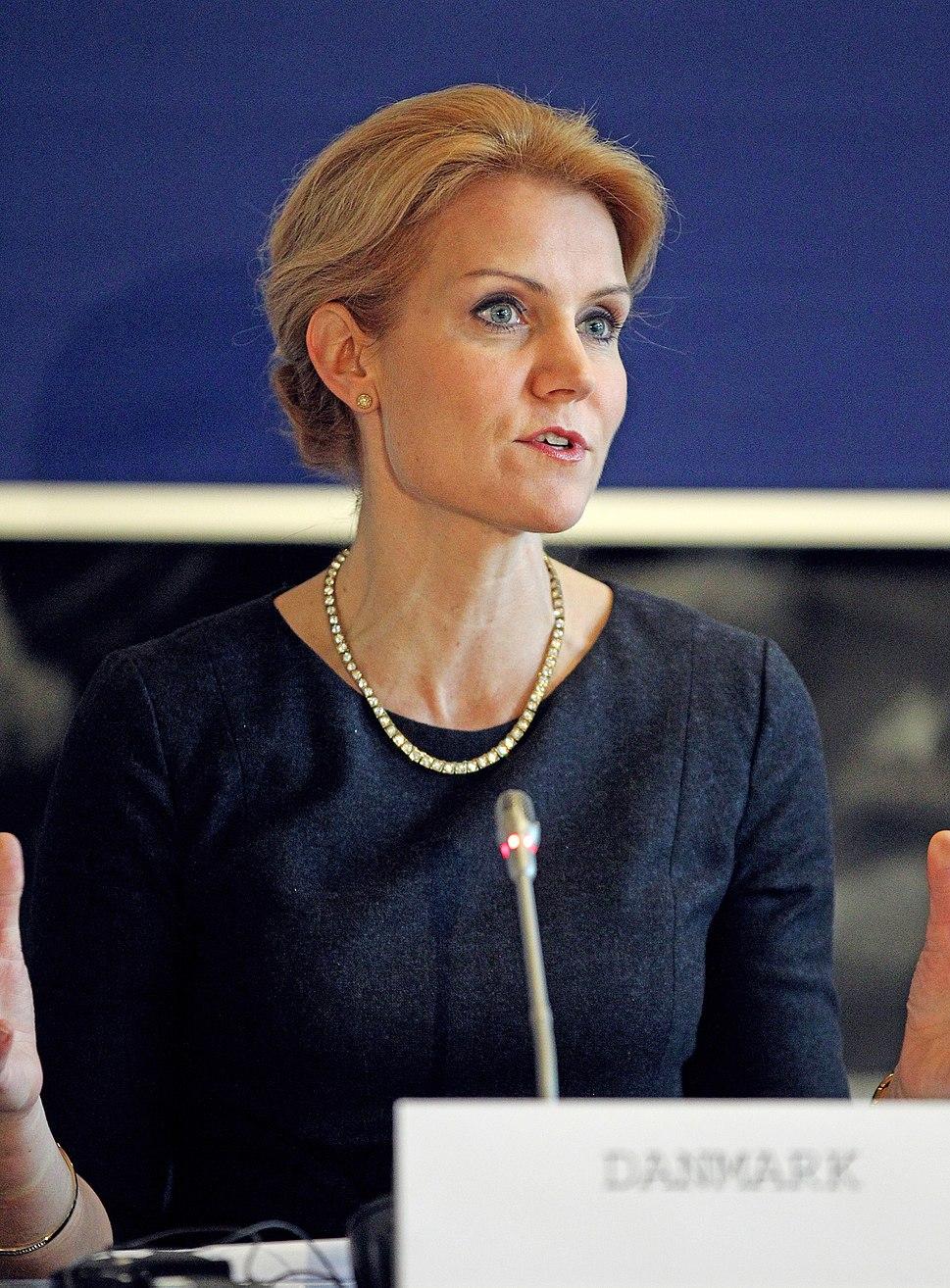 Danmarks statsminister Helle Thorning-Schmidt vid de nordiska statsministrarnas mote vid Nordiska Radets session i Kopenhamn (1)