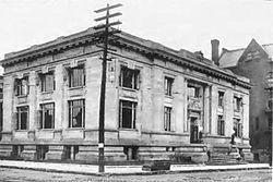 Carnegie Library of Davenport, IA built in 1904. Photo courtesy of Wikipedia: https://en.wikipedia.org/wiki/Davenport_Public_Library#/media/File:Davenport_Carnegie_Library.jpg