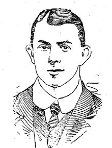 Cartoon drawing of the head and shoulders of a young man