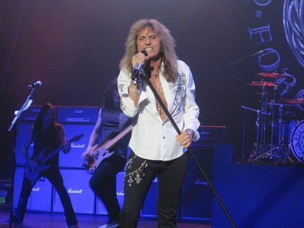 Coverdale performing with the band at the Manchester Apollo, Manchester, England in 2011 David Coverdale, Manchester Apollo, 2011.JPG