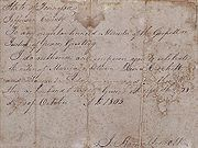 Contract of marriage for October 1805