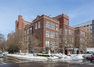 Ithaca High School (Ithaca, New York) - The former school, now DeWitt Mall.