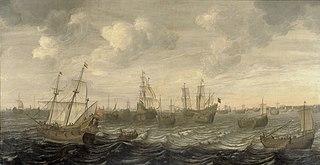 The Dutch herring fleet under sail