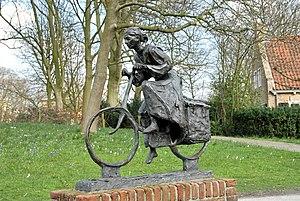 Stadhouderlijk Hof - WWII monument statue in the former palace garden and now public park Prinsentuin, in Leeuwarden.