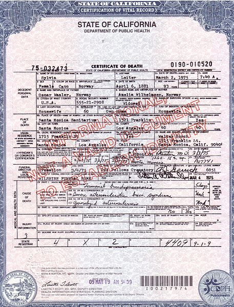 file:death certificate - sylvia of hollywood - wikimedia commons
