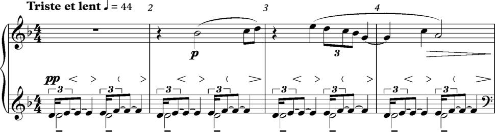Debussy, Des pas sur la neige