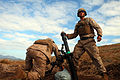 Defense.gov News Photo 110714-M-VX252-080 - Lance Cpl. Kyle J. Palmer right and Lance Cpl. Samuel E. Robertson left mortarmen with the 81mm Mortars Platoon Weapons Company Battalion Landing.jpg