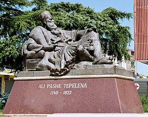 Tepelenë - Monument of Ali Pasha.