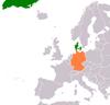 Lage von Deutschland und Dänemark