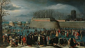 Timeline of Antwerp - Carnival on Ice at the Kipdorppoort Moats, c. 1620