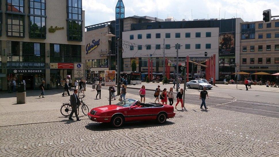 Der Holzmarkt in der Jenaer Innenstadt