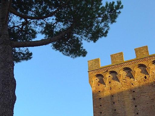 Detail of Porta Romana - Siena - Italy