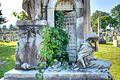 "Details of ""Prisoner's Friend"", William James Mullen monument, Laurel Hill Cemetery.jpg"