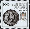 Deut. Briefmarke 1,00 € 800 Jahre Deutscher Orden.png