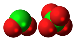 Dichlorine hexoxide - Image: Dichlorine hexoxide ions spacefill
