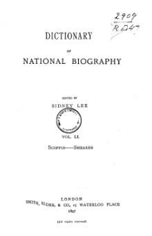 Dictionary of National Biography volume 51.djvu
