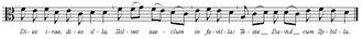 Symphony No. 103 (Haydn) - Image: Dies Irae