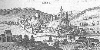Diez, Germany - Diez - Extract from the Topographia Hassiae by Matthäus Merian 1655