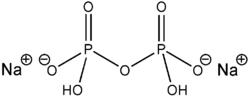 Strukturformel von Dinatriumdihydrogenpyrophosphat