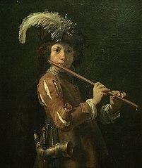 Portrait of a boy as a shepherd