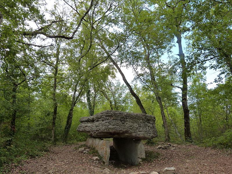 Dolmen de Pech-Lapeyre in situ