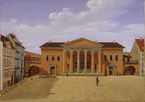 Copenhagen Court House - The building in 1850, painting by Carl Balsgaard