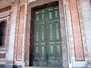 Sant'Adriano al Foro - Doors of S. Adriano/Senate House