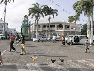 Basseterre - Downtown Basseterre, St. Kitts.