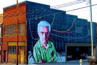Robert Moog - A mural depicting Moog in Asheville, North Carolina