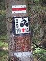 Droga między Orle i Wielką Izerą, znaki.jpg