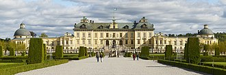 Drottningholm Palace - Drottningholm: Front view of the palace.