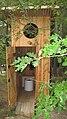 Dry toilet built outside a house toilette sèche construite à l'exterieur d'une maison (5375145749).jpg