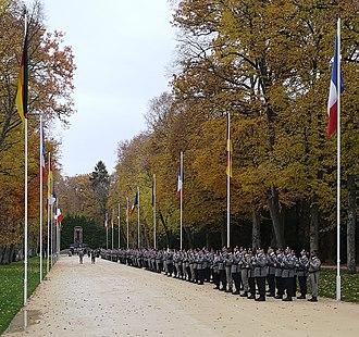 Franco-German Brigade - Franco-German brigade at the Glade of the Armistice