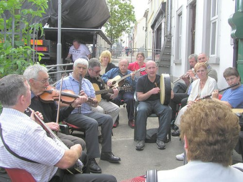 A traditional music session, known in Irish as a seisiun. Dungloe music festival (1) - geograph.org.uk - 51567.jpg