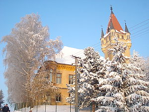Feštetić Castle - A winter idyll at the castle - south view