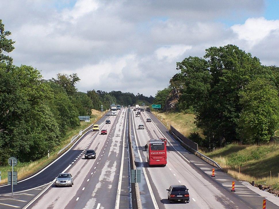 E22 Nättraby motorväg västerut mot Karlskrona