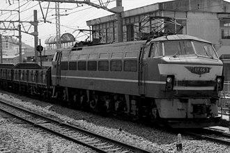 JNR Class EF66 - Image: EF66 3 hauling freight train
