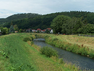 Hörsel river in Germany