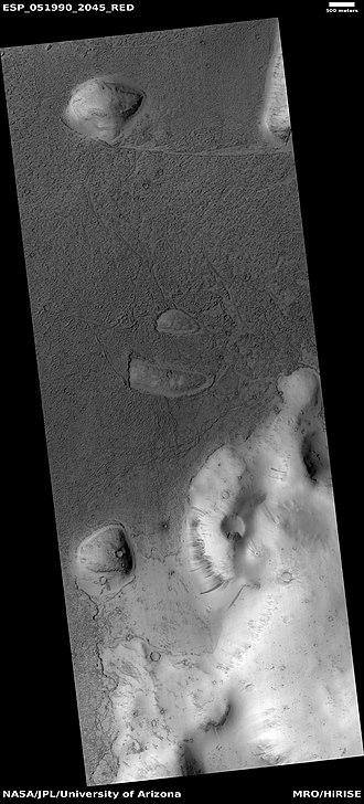 Elysium quadrangle - Image: ESP 051990 2045lavaflows