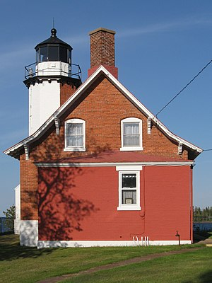 Eagle Harbor Lighthouse in Michigan, USA
