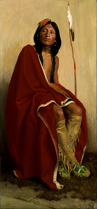 E. Irving Couse - Elk-Foot of the Taos Tribe (1909)