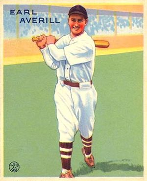 Earl Averill - Image: Earl Averill Goudeycard