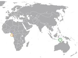Location of East Timor and São Tomé and Príncipe