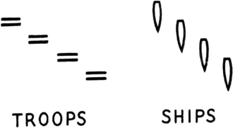 Echelon formation - Echelon formations of troops and ships