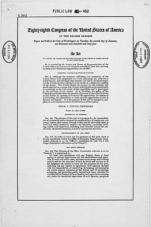 Economic Opportunity Act of 1964 - Economic Opportunity Act