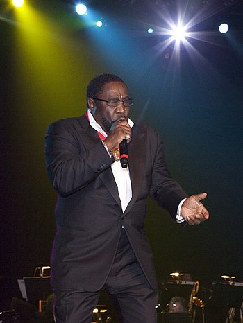 Eddie Levert singing at the Alabama Music Hall...