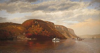 Burdett's Landing - Painting from 1867 showing Burdett's Landing. John George Brown (1831-1913), On the Hudson, 1867, oil on canvas, 39 x 72 inches, Fine Arts Museums of San Francisco, Gift of Mr. and Mrs. John D. Rockefeller 3rd, 1979.7.19
